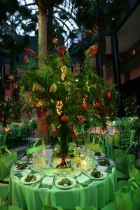 Healthcorp's Green Garden Gala table setting